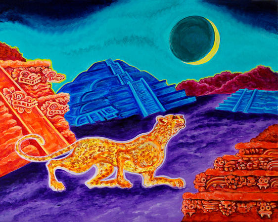 Jaguar New Moon at Teotihuacan